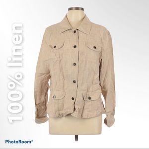 J.Jill L Petite 100% linen jacket